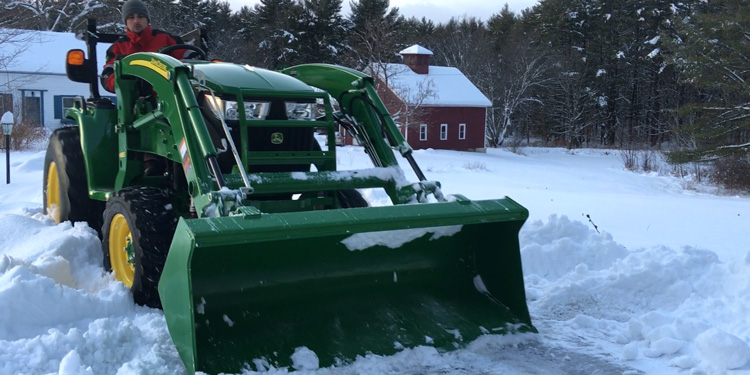 Christmas Snow Removal With Go Pro Excavation